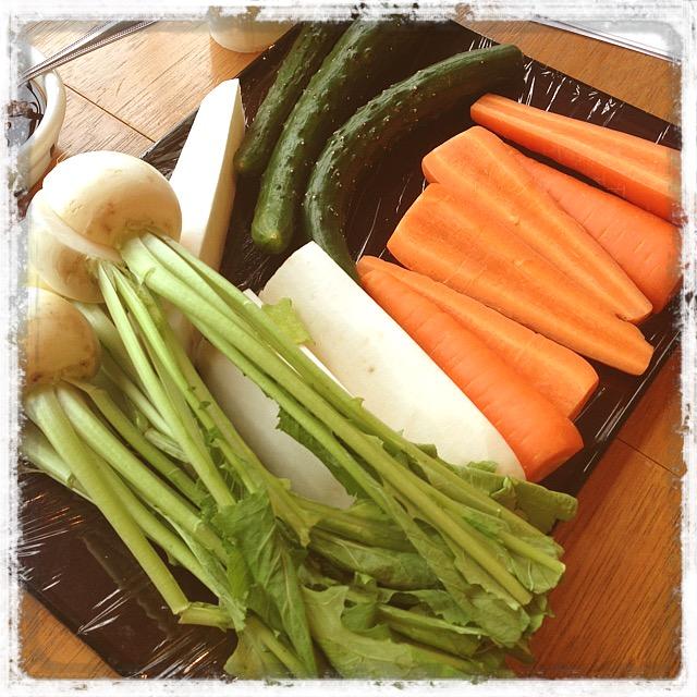 漬物作りの野菜たち
