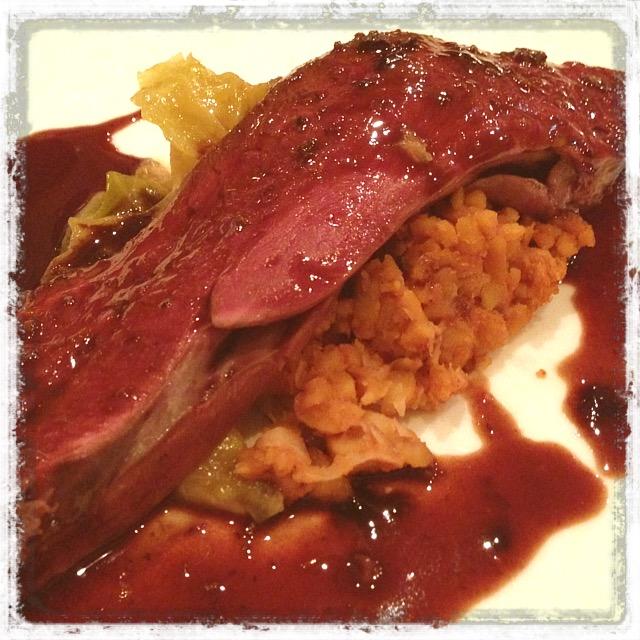 カモ肉の赤ワイン煮