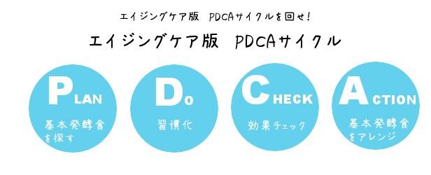 エイジングケア版PDCAサイクル