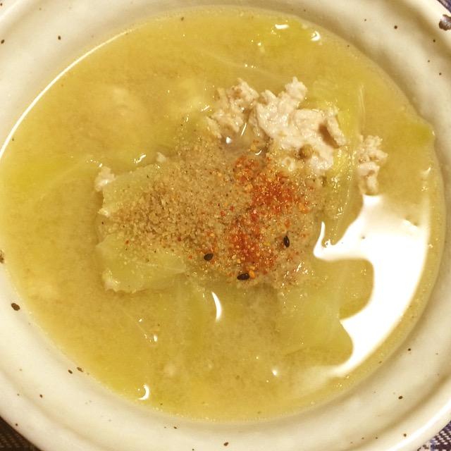 鶏肉とキャベツの味噌汁_みんなの発酵レシピ