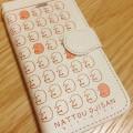 NATTOUOJISAN(なっとうおじさん)_手帳型スマホケース(IVORY)