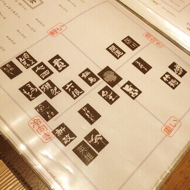 日本酒早見表
