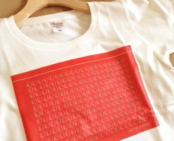 なっとうおじさん_RED_Tシャツ